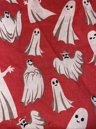 SALE - Red ghost medium Over collar bandana
