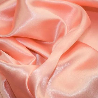 Peach satin scrunchie