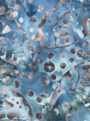 SALE Small Bow -Blue batik