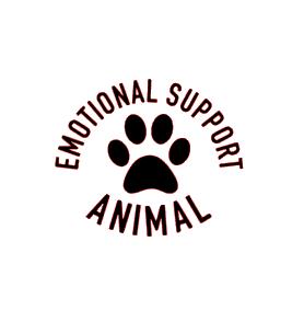 Emotional support animal vinyl bandana add on