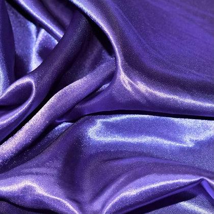 Deep purple satin scrunchie