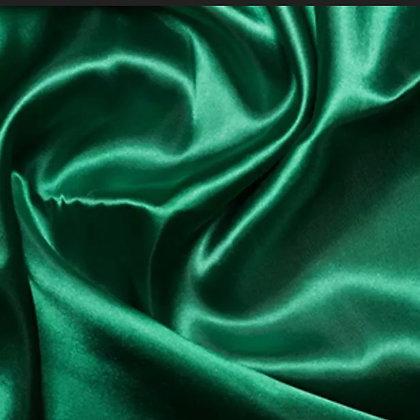 Dark green satin scrunchie