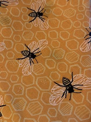 "SALE - Yellow bee L bandana up to 19"" neck"