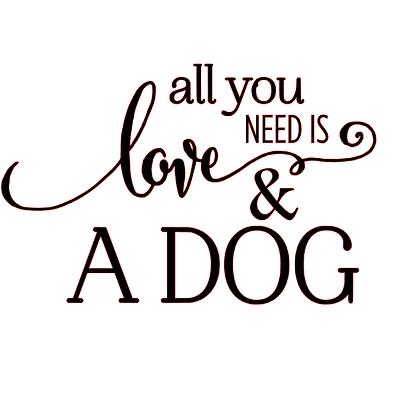 All you need is love dog vinyl bandana add o