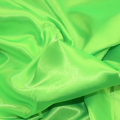 Lime green satin scrunchie