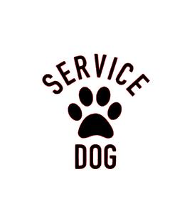 Service dog vinyl bandana add on