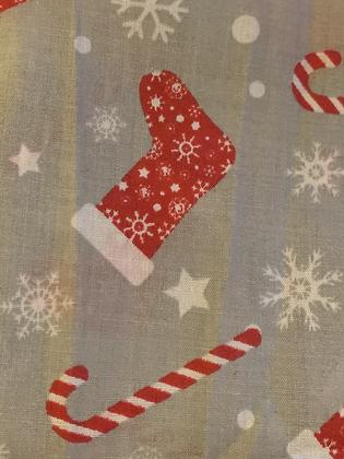 SALE Medium Bow - grey stocking