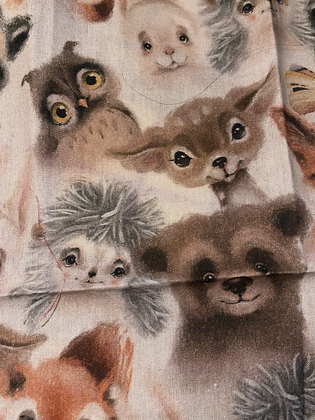 "SALE - Animals small Over collar bandana (1.2"" collar gap)"
