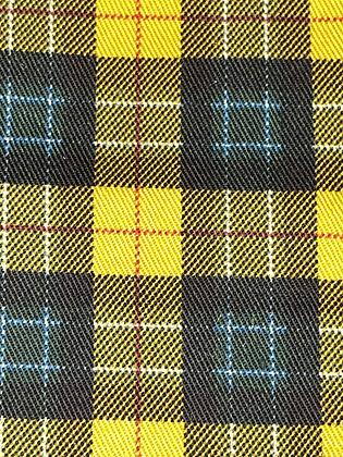 "SALE - XS Gold check bandana up to 14"" neck"