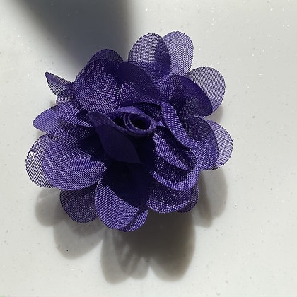 Mini purple Flower elastic loop attachment