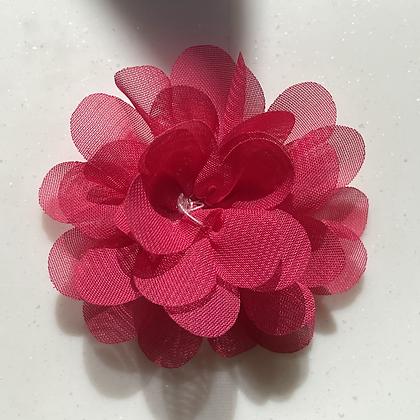 Mini Deep pink Flower elastic loop attachment