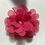 Thumbnail: Mini Deep pink Flower elastic loop attachment