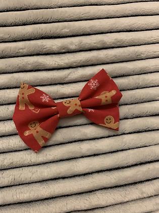 SALE Medium Bow - Red gingerbreadman