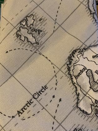 SALE - Map X-small Over collar bandana
