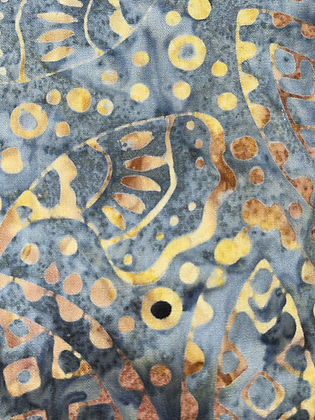 SALE Medium Bow- Grey/gold batik