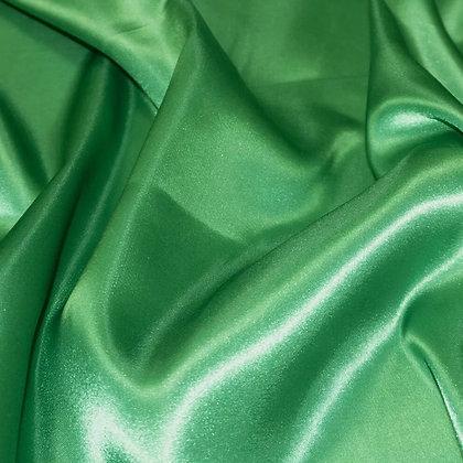 Green satin scrunchie