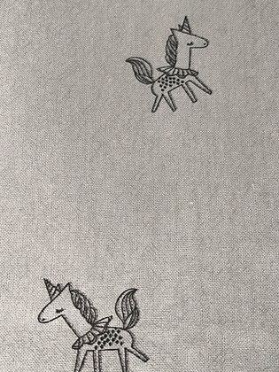 SALE Small Bow -Grey unicorn