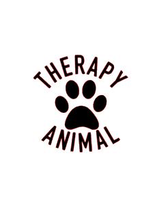 Therapy animal vinyl bandana add on