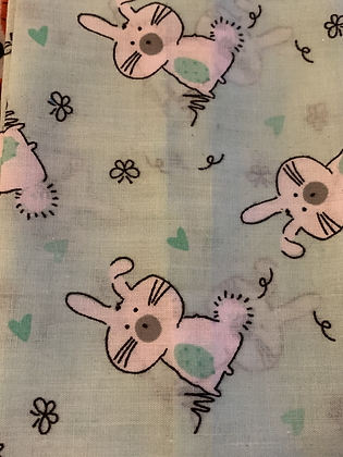 SALE Small Bow - Mint bunny
