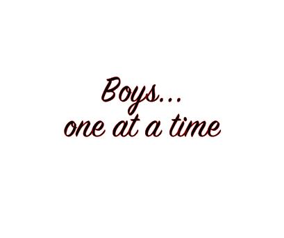 Boys one at a time vinyl bandana add on