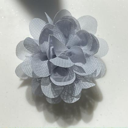 Mini light grey Flower elastic loop attachment