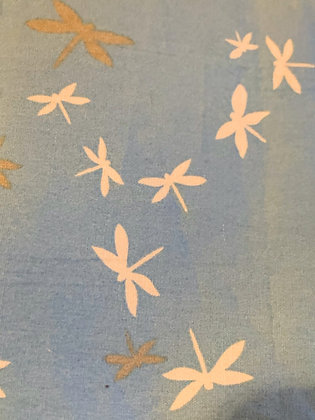 SALE Small Bow - Blue dragonfly