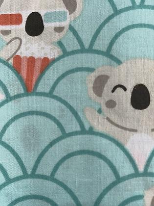 SALE Medium Bow - Turquoise koala