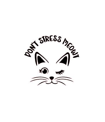 Don't stress meowt vinyl bandana add on