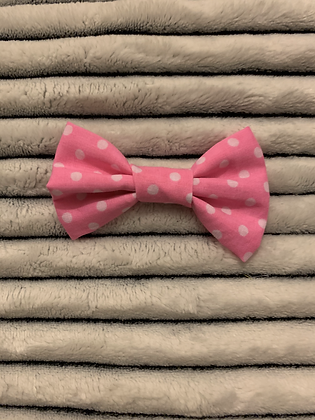 SALE Small Bow -Pink spot