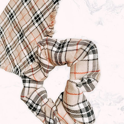 Plaid Scrunchies - 11 colours
