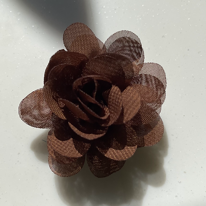 Mini brown Flower elastic loop attachment