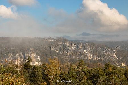 Blick vom Rauenstein auf die Bastei
