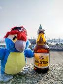 Blu & Hamburger Bier auf den Weinbergen