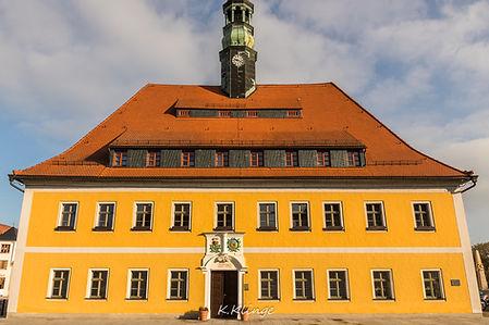 Das Rathaus von Neustadt in Sachsen