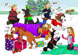 Christmas Card for Potter Paws Training