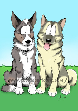 Merlin and Louie colour 2 watermarked