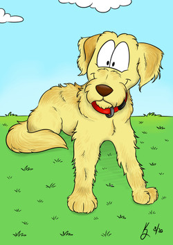 Pet Caricature Luna the Labradoodle