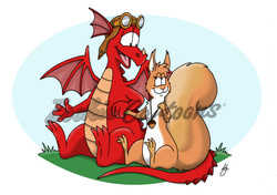 Dragon and Squirrel Couple