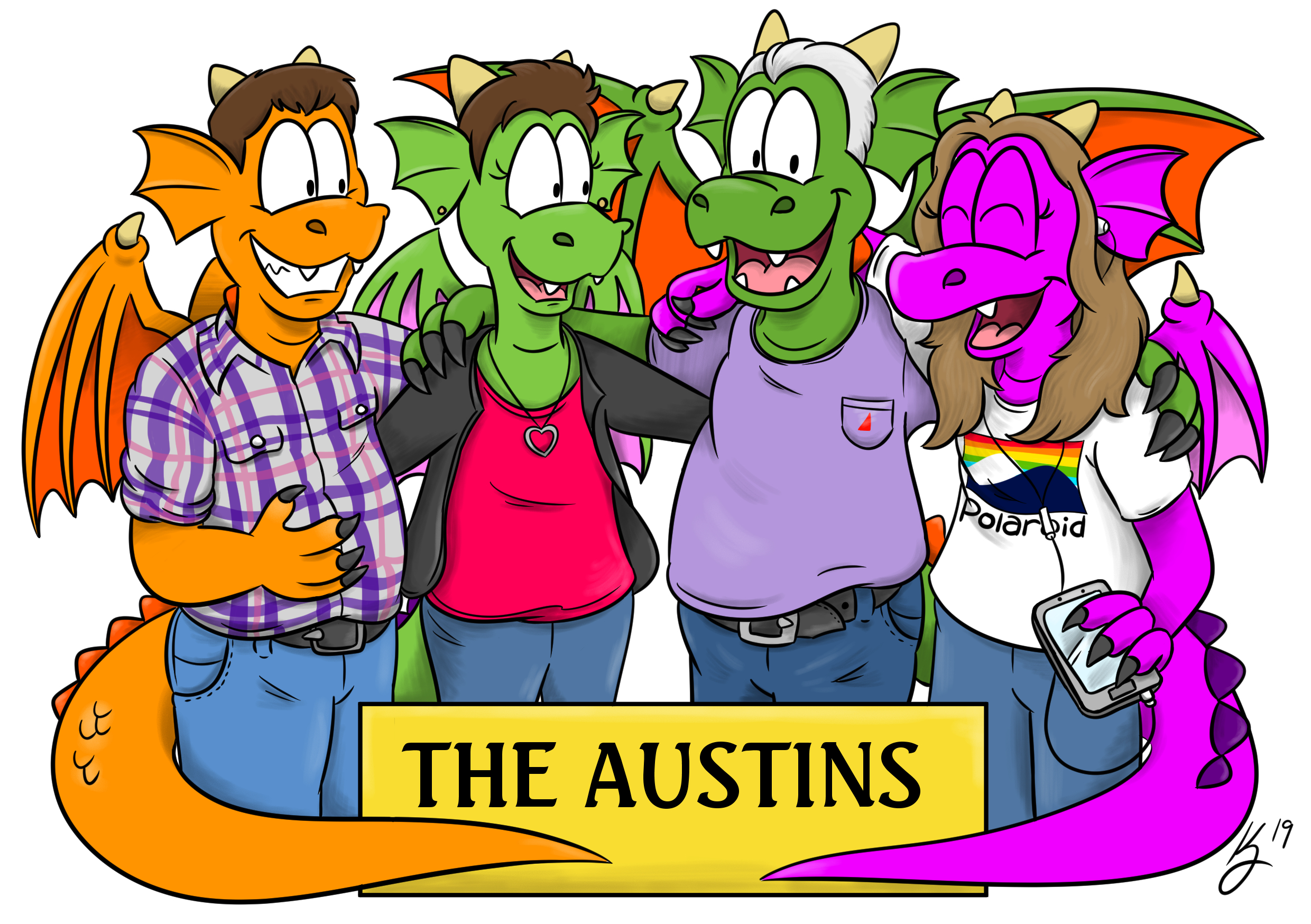 Dragon Caricature: The Austins