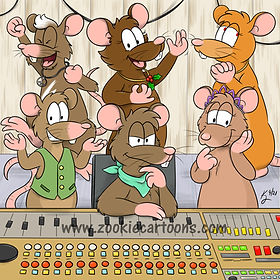 Comm Fuzz and the Gang in the Studio wm.