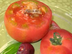 アワビとトマトの煮込み