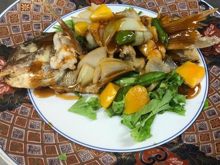 真鯛の甘酢餡 お祝いのお食事に ご予約お待ちしております