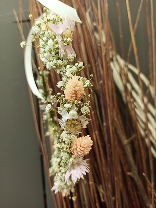 Couronne fleurs séchées Flamant