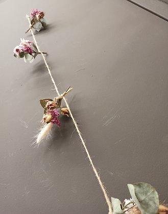 Guirlande fleurs séchées rosa