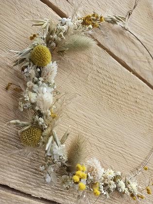 Couronne fleurs séchées sur mesure