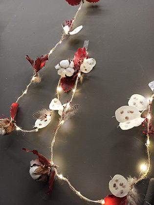 Guirlande leds fleurs séchées