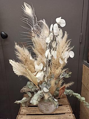 Composition nude fleurs séchées