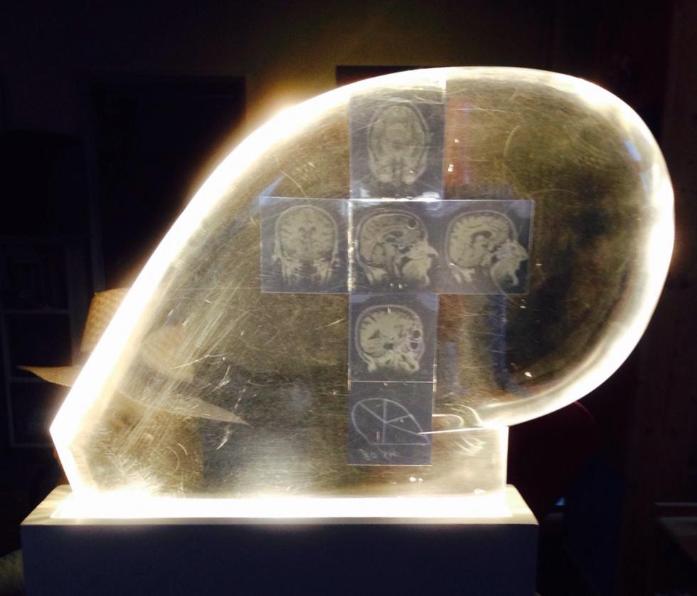 Plexiglas Objekt Lichtinstallation an