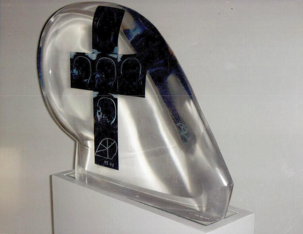 Plexiglas Objekt Lichtinstallation aus