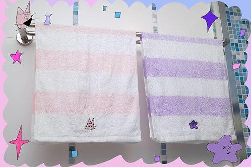 海星白貓毛巾組合Seastar and White Cat Towel Combo